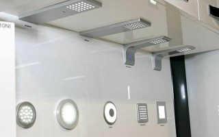 Светодиодные светильники для кухни над рабочей поверхностью