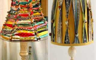 Абажур для настольной лампы своими руками, различные варианты
