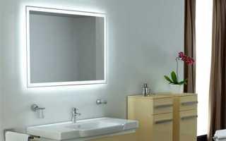 Зеркало в ванную с подсветкой — виды, особенности, выбор