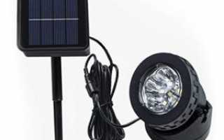 Светодиодный прожектор на солнечных батареях: бесплатное освещение для улицы