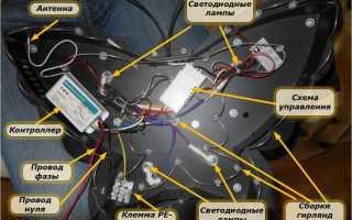 Как подключить люстру с пультом управления, схема и сборка