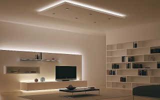 Секреты освещения в гостиной с натяжными потолками, советы дизайнера