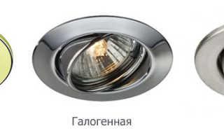 Как выбрать точечный светильник для натяжных потолков, монтаж