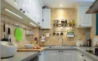 Как организовать освещение в кухне с натяжным потолком