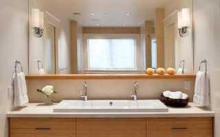 Светильники для зеркала в ванной комнате: над зеркалом, настенные, led