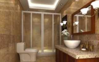 Правила освещения в ванной комнате и туалете