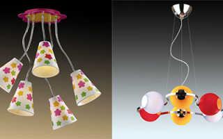 Выбираем детские светильники для девочек и мальчиков