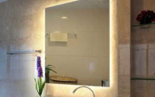 Как выбрать, установить и подключить зеркало с подсветкой в ванной своими руками