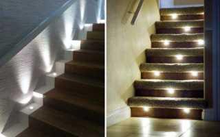 Светильники встраиваемые в стену: подсветка пола и лестниц
