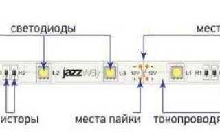 Как подключить светодиодную ленту к 220, различные варианты