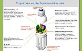 Устройство и схема энергосберегающей лампы, все подробно