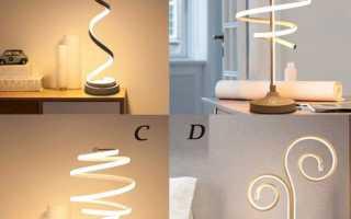 Декоративные настольные лампы: ретро, современные, детские