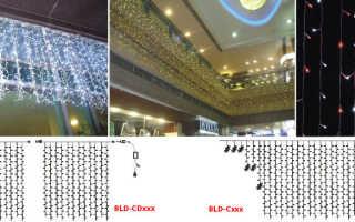 Какие лучше подобрать светодиодные гирлянды, обзор различных видов
