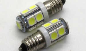 Лампочки с цоколем E10