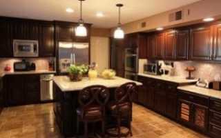 Выбор и размещение точечных светильников в кухне