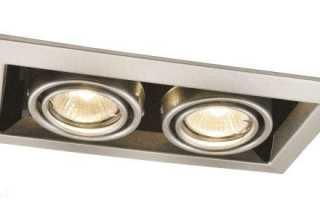 Двойной встраиваемый светильник — виды, советы по выбору