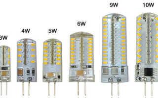 Какие светодиодные лампы g4 лучше выбрать, обзор моделей