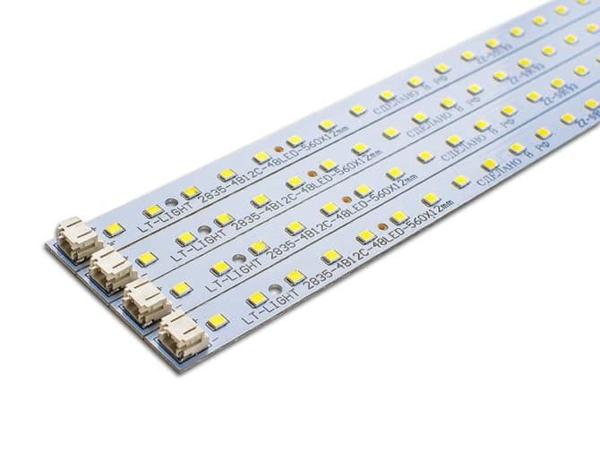 Светодиодные линейки для светильника Армстронг замена люминесцентным трубкам