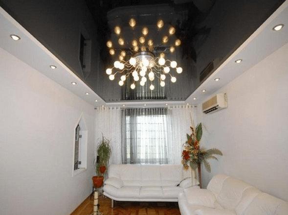 Как правильно выбирать люстры для натяжных потолков