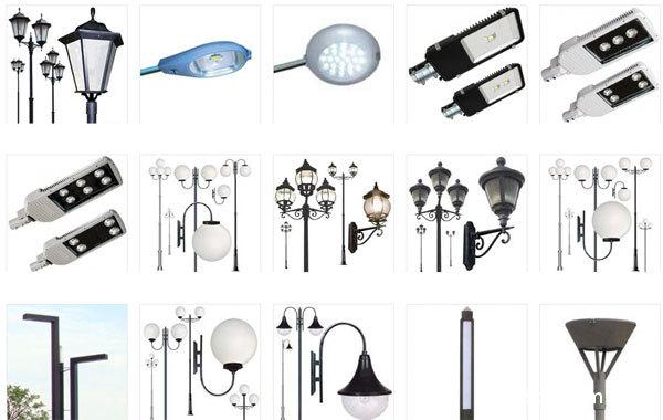 Виды и типы фонарей освещения для улицы