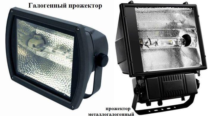 Различные виды прожекторов