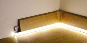 Напольный плинтус с подсветкой