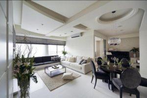 Парящий потолок без подсветки