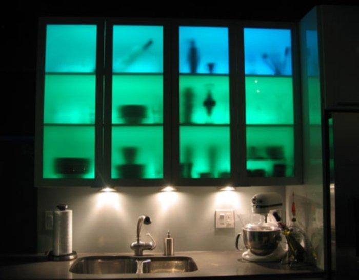 Подсветка в шкафах