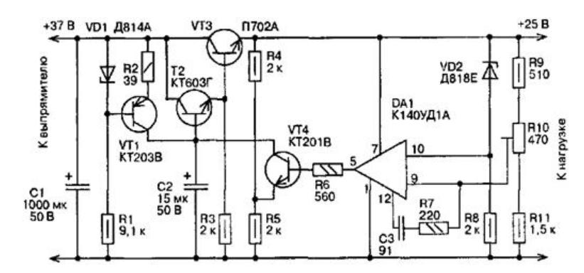 Как собрать стабилизатор напряжения на 12 В для авто своими руками