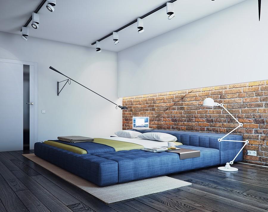Варианты освещения в спальне с натяжным потолком