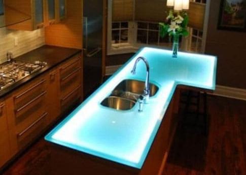 Внутренняя подсветка стола