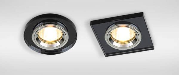 Встраиваемые светильники на потолке