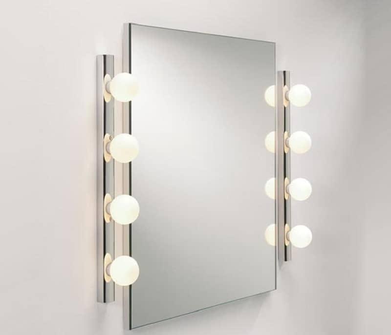 освещение прямоугольного зеркала