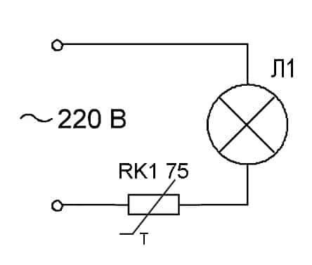 схема терморезистора