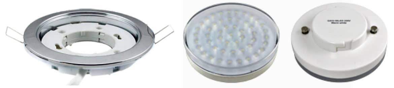 Встраиваемый светильник моделиgx53 и светодиодная лампа к нему