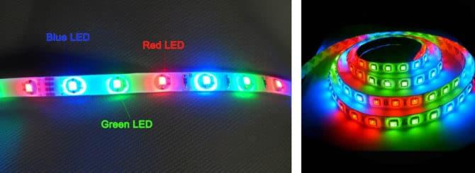 RGB лента,