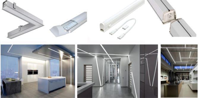 использование модульных линейных светильников