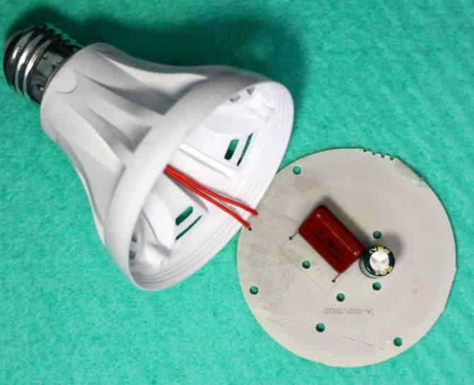 драйвер на плате со светодиодами