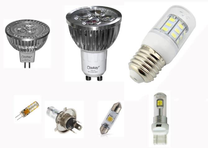 led лампочки на 12 вольт