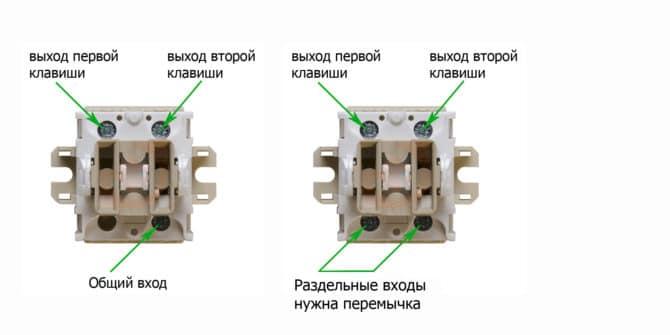 Двойные выключатели