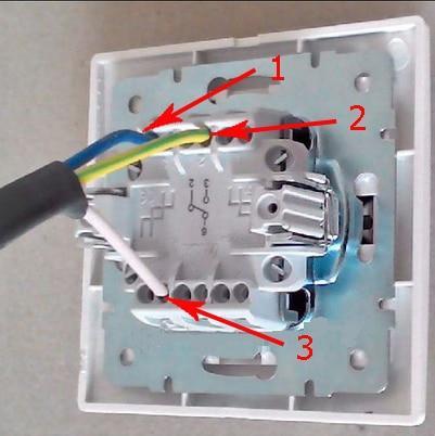 Нумерация выводов проходного выключателя