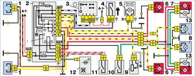 схема приборов ВАЗ 2110