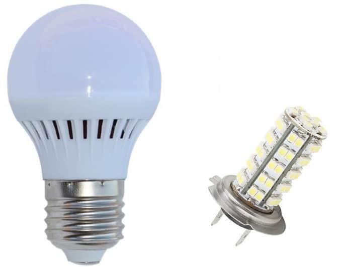 Светодиодные бытовая и автомобильная лампы