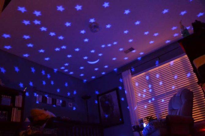 Звездное небо от ночника