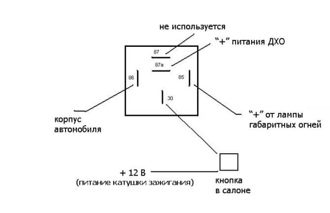 Схема автоматического управления ДХО на Рено Логан