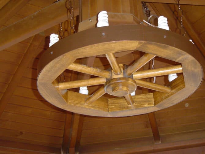 Люстра колесо