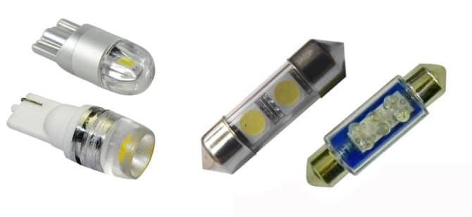 Светодиодные лампочки W5W и C5W