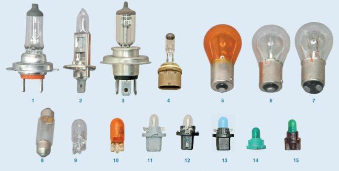 используемые лампы