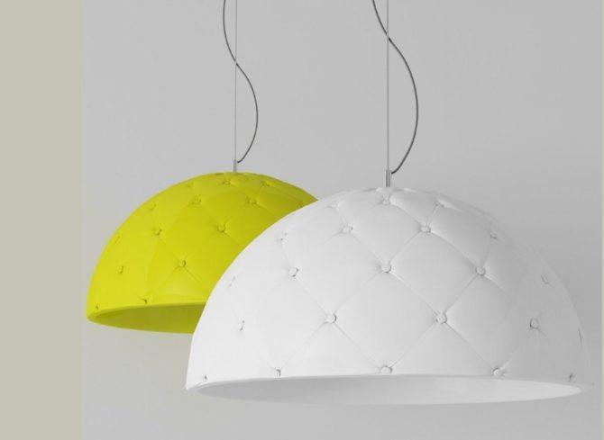 светильник из текстиля