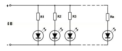 схема светодиодной гирлянды